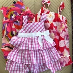 Lot of 3 Girls summer dresses 3T